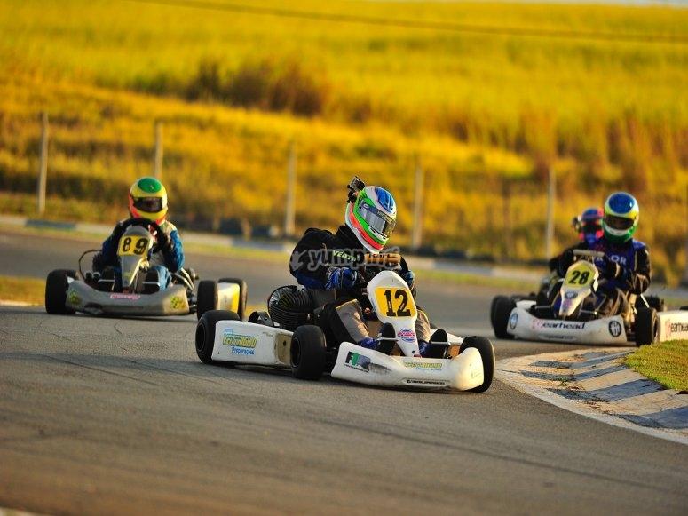Karting en circuito