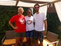 Con nuestro amigo Calderon
