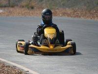 en la pista de karting