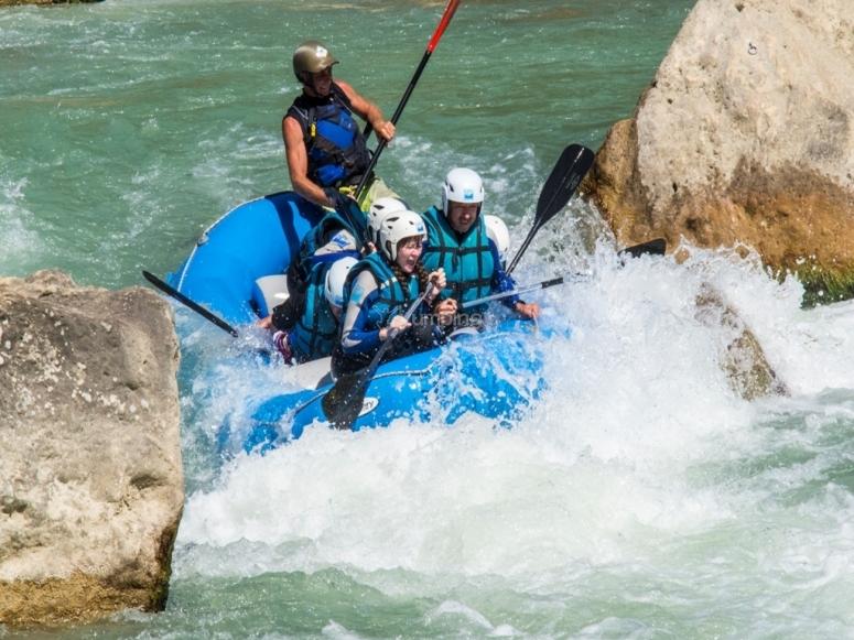 Rafting en el rio Gallego