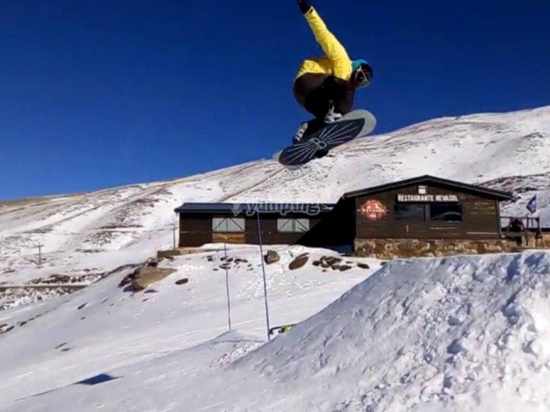 Curso de snowboard en Pradollano