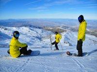 Practica snowboard en Sierra Nevada