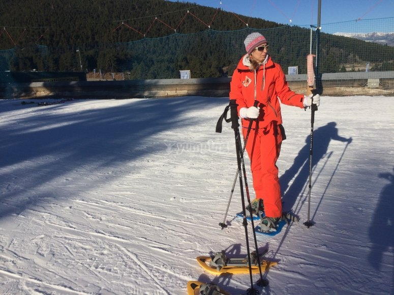 Circuito con raquetas de nieve