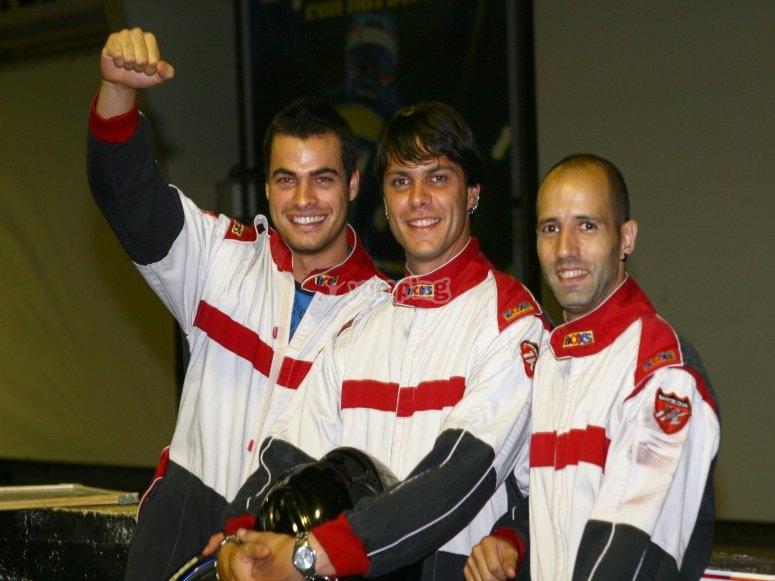 Campeones de karting