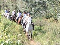 骑马在Huertas周围
