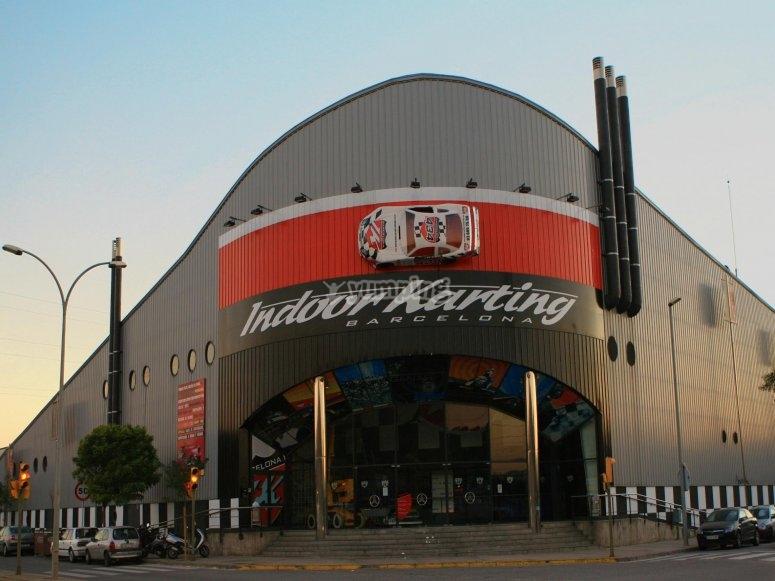 Entrada indoor karting principal