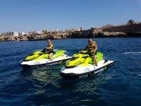 Jet ski route along the Alicante coast