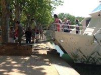 Bajando de nuestro barco