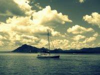 Atardecer a bordo de un barco