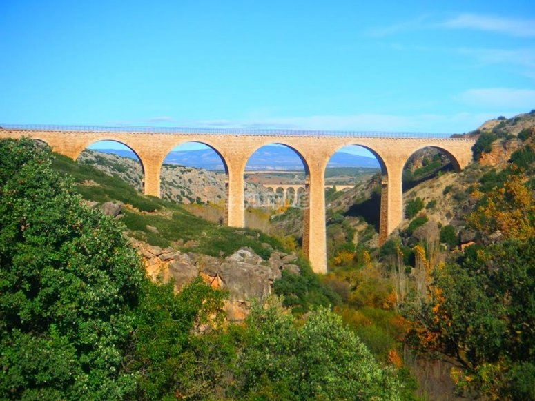 Albentosa bridge, 50m-tall