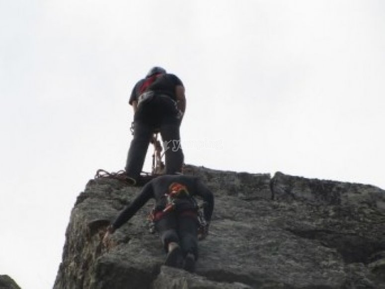 Climbing in stag party