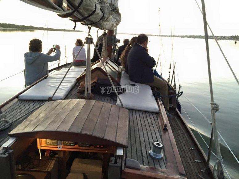 Cubierta del velero