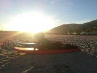 日落时学习冲浪
