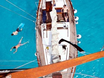 Sailing boat tour at sunset at Ibiza, 3h