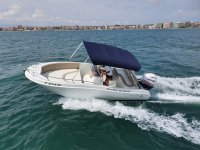 Sailing by boat along the Alicante coast