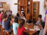 en el aula de idiomas