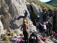 grupo iniciacion a la escalada deportiva