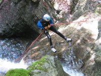 Rappel in canyons in Asturias