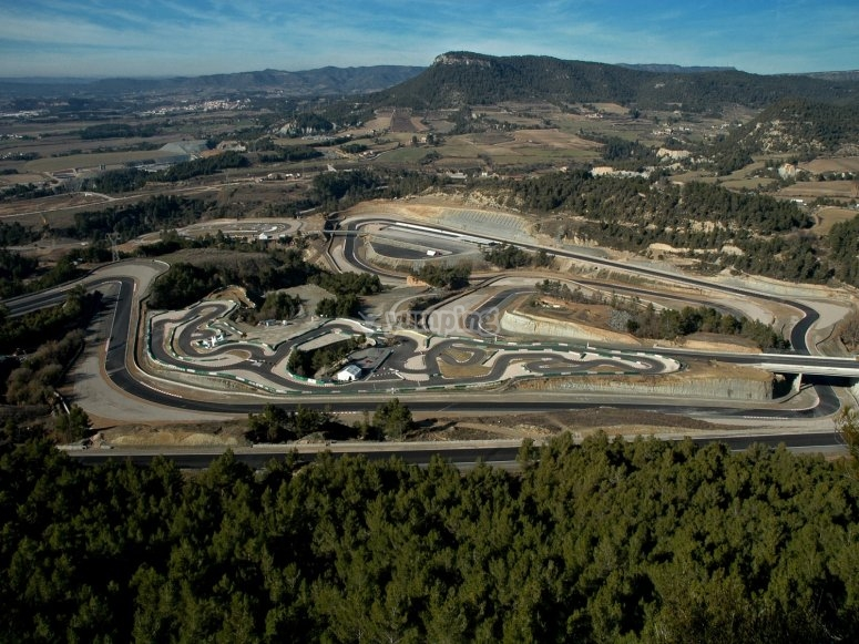 Outdoor karting track