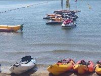 Jet skis and kayaks
