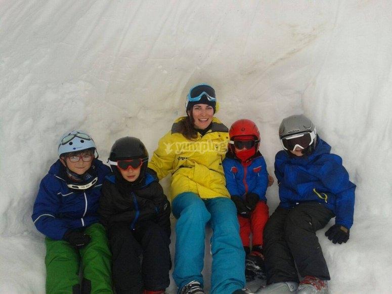 Skiing class