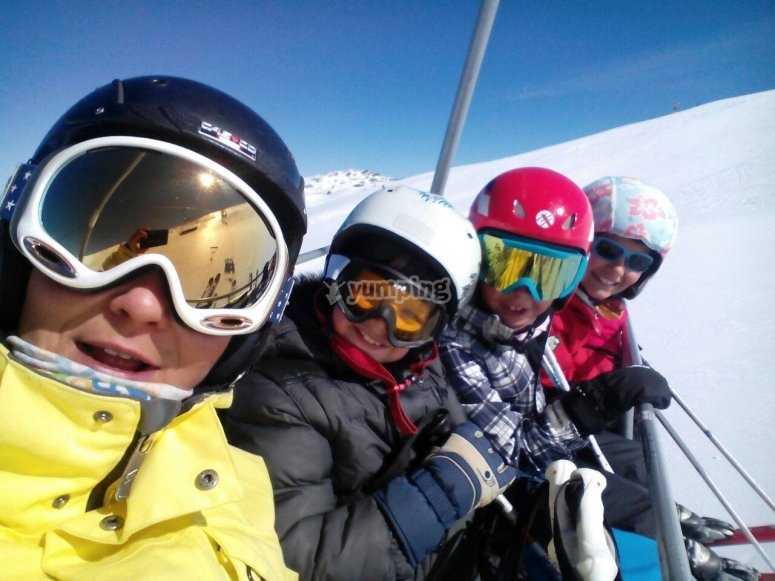 At the chair lift