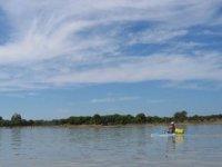 Practicando Kayak con Daan Aventura
