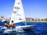 Sail dinghy sailing Murcia