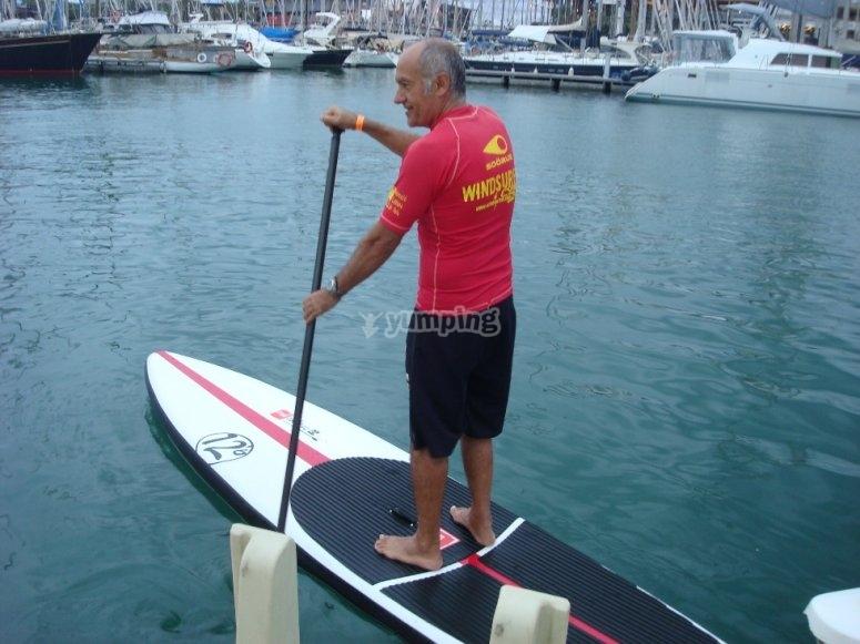 练习站立式桨