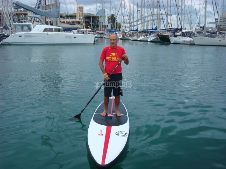 Practicando Stand Up Paddle