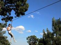 高空滑索线路中的冒险