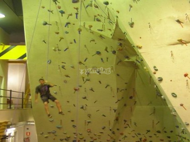 Climbing wall session