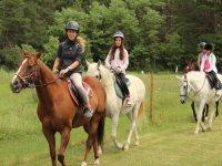 Ruta a caballo 2 horas en Jaca