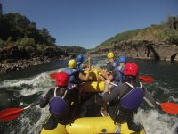 Inside the rafting raft