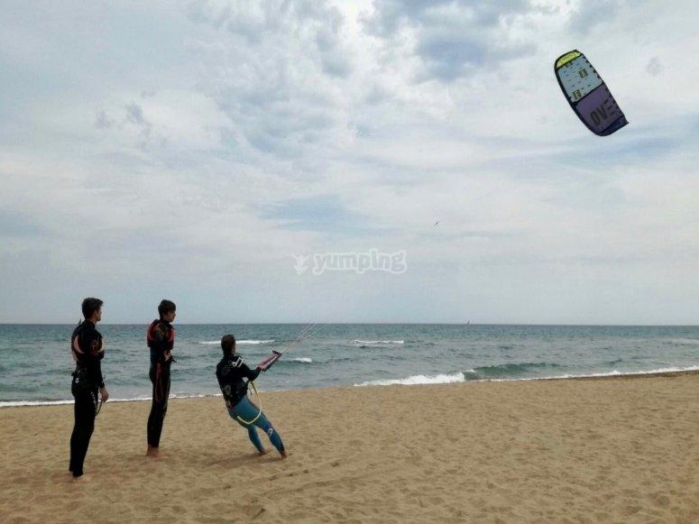 Prepare the kite