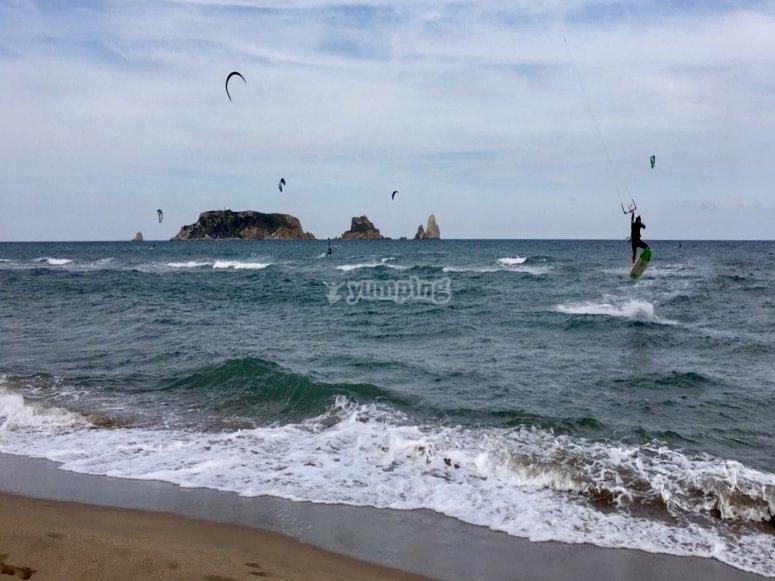 课程风筝冲浪