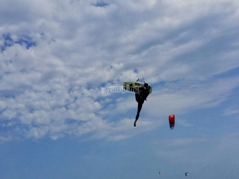 Flying with the kite
