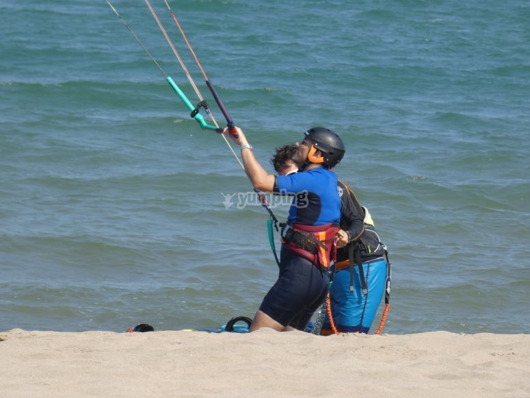 Kitesurf session