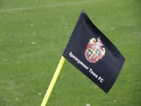 Bandera en el campo de fútbol