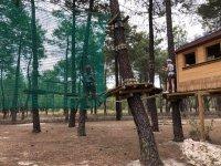 Hanging bridges in our camp