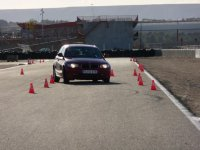 Driving test with cones