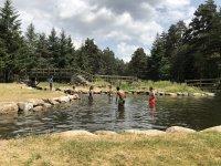 Baños en piscinas naturales