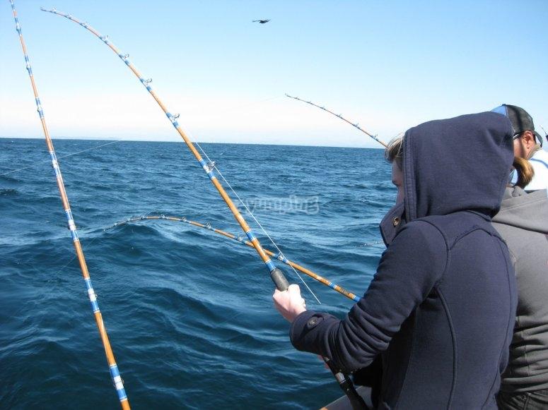 Divertirsi a pescare