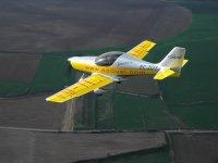 Overflying Lleida on a ULM