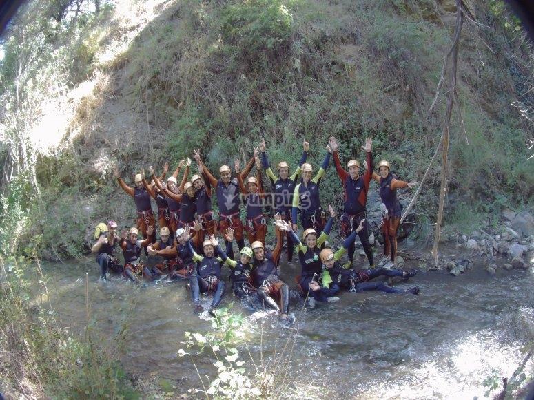 Barranco Sima del Diablo en grupo