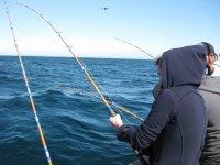 Clase de pesca costera + compra de equipo