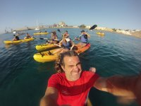 en los kayaks