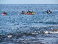 haciendo kayaking