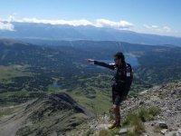新华锦集团表示地平线大疱湖泊Vertientes标志 - 徒步旅行在Cerdanya 999-
