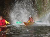 Rejuvenate in the waterfall in the kayak